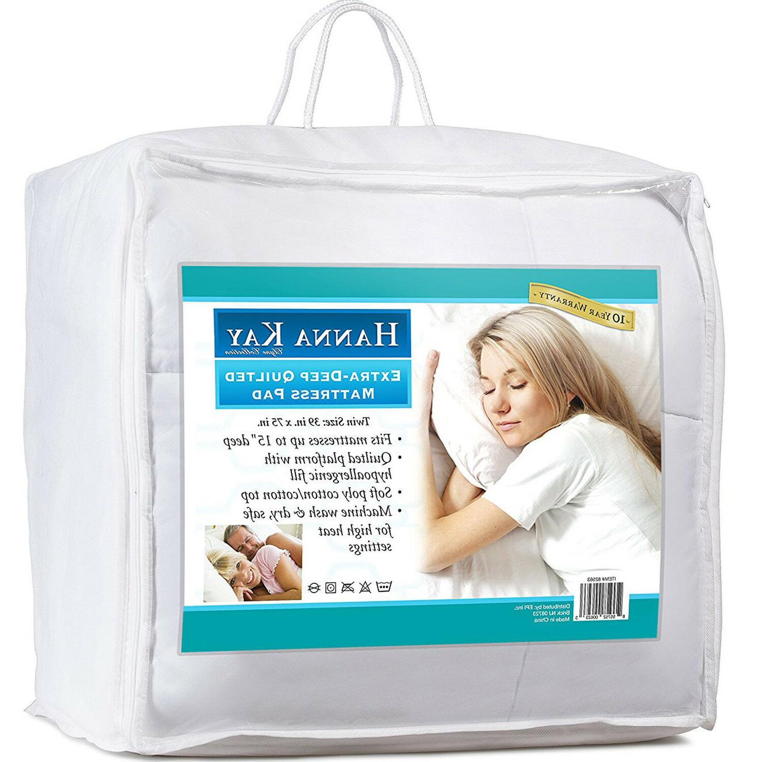 Poly-Cotton Quilted Mattress Hypoallergenic Fitted Breathable