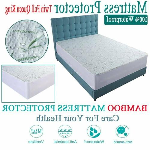 Mattress Cover Protector Waterproof Pad King Size Encasement
