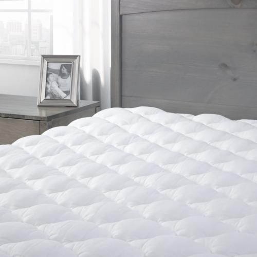 pressure relief mattress pad with fitted skirt