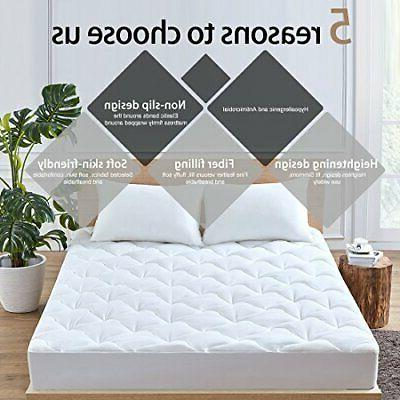 Queen Mattress Pad Cover Snow Down Bed