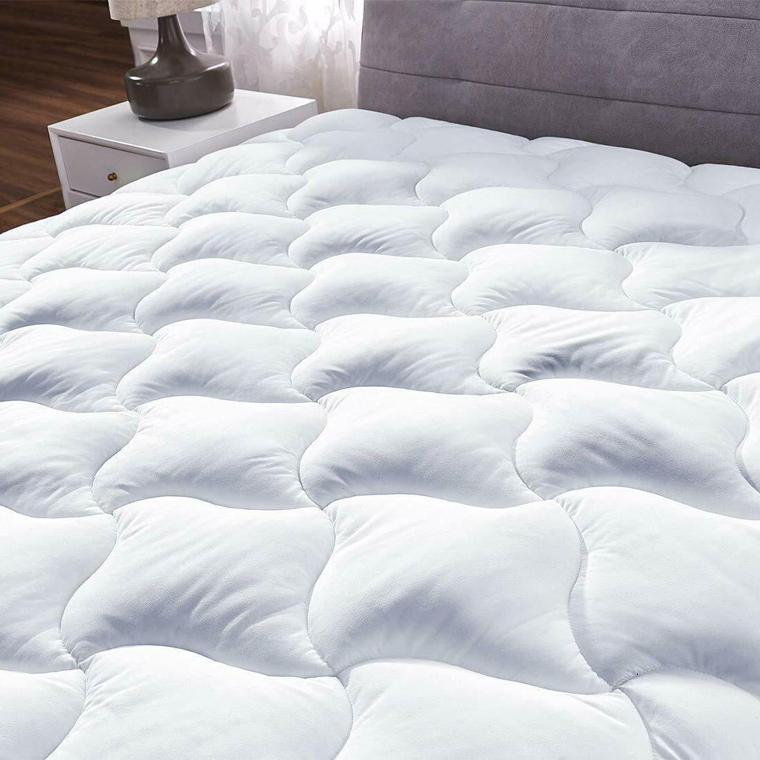YOUMAKO Cooling Mattress Pad Cover Quilted Pillowtop Overfil
