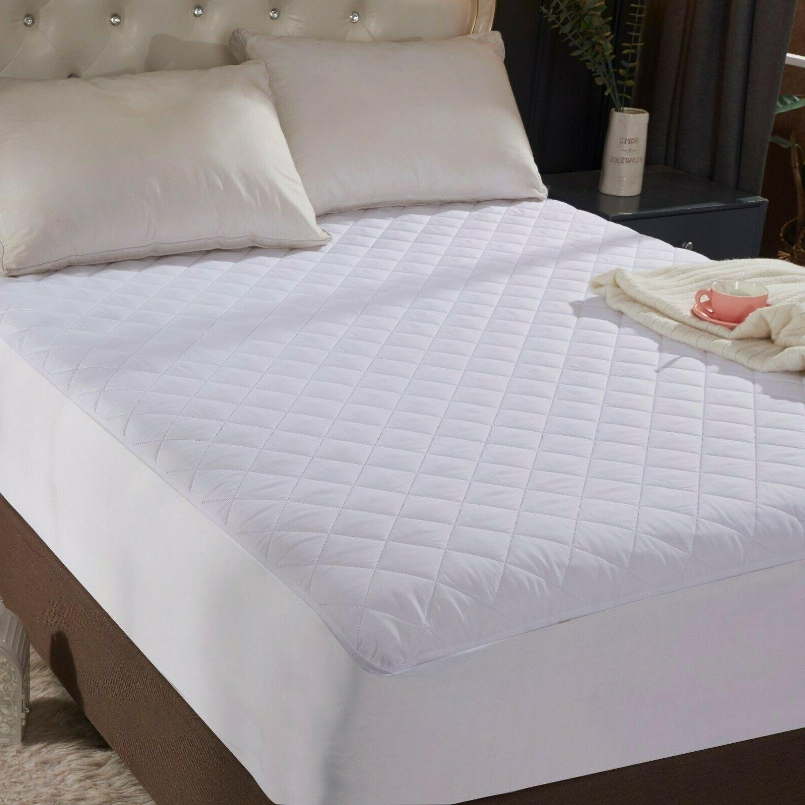 """King Quilted Mattress Protector Topper 16"""" Deep Bed Sheet"""