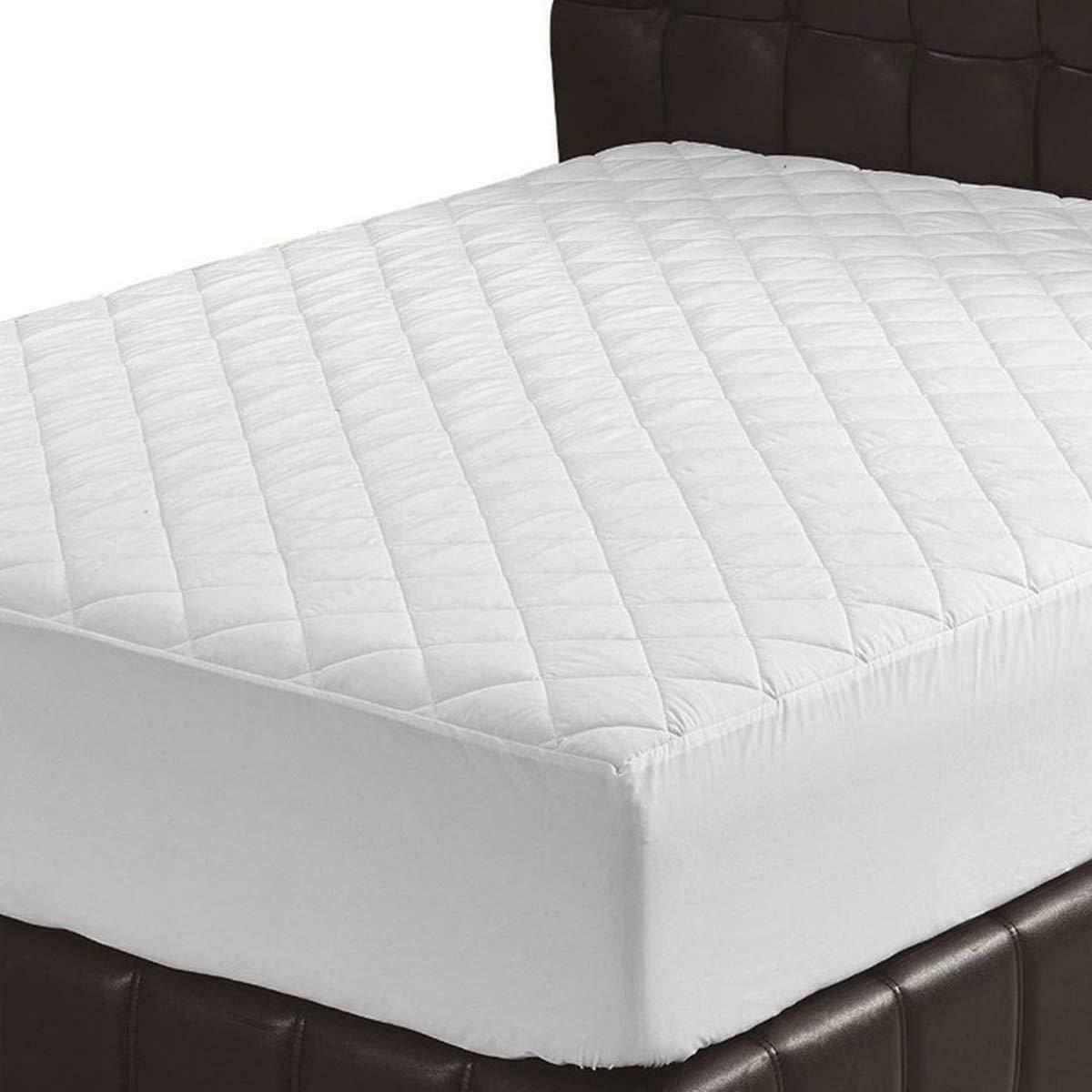 quilted fitted mattress pad cover stretches up