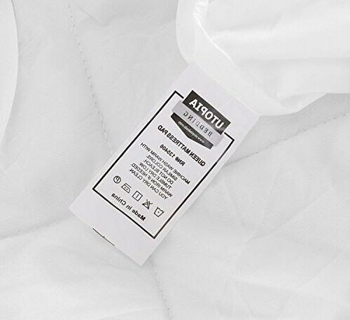 Utopia Quilted Mattress Pad Cover Stretches XL