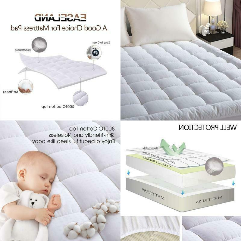 quilted fitted mattress pad queen pillow top