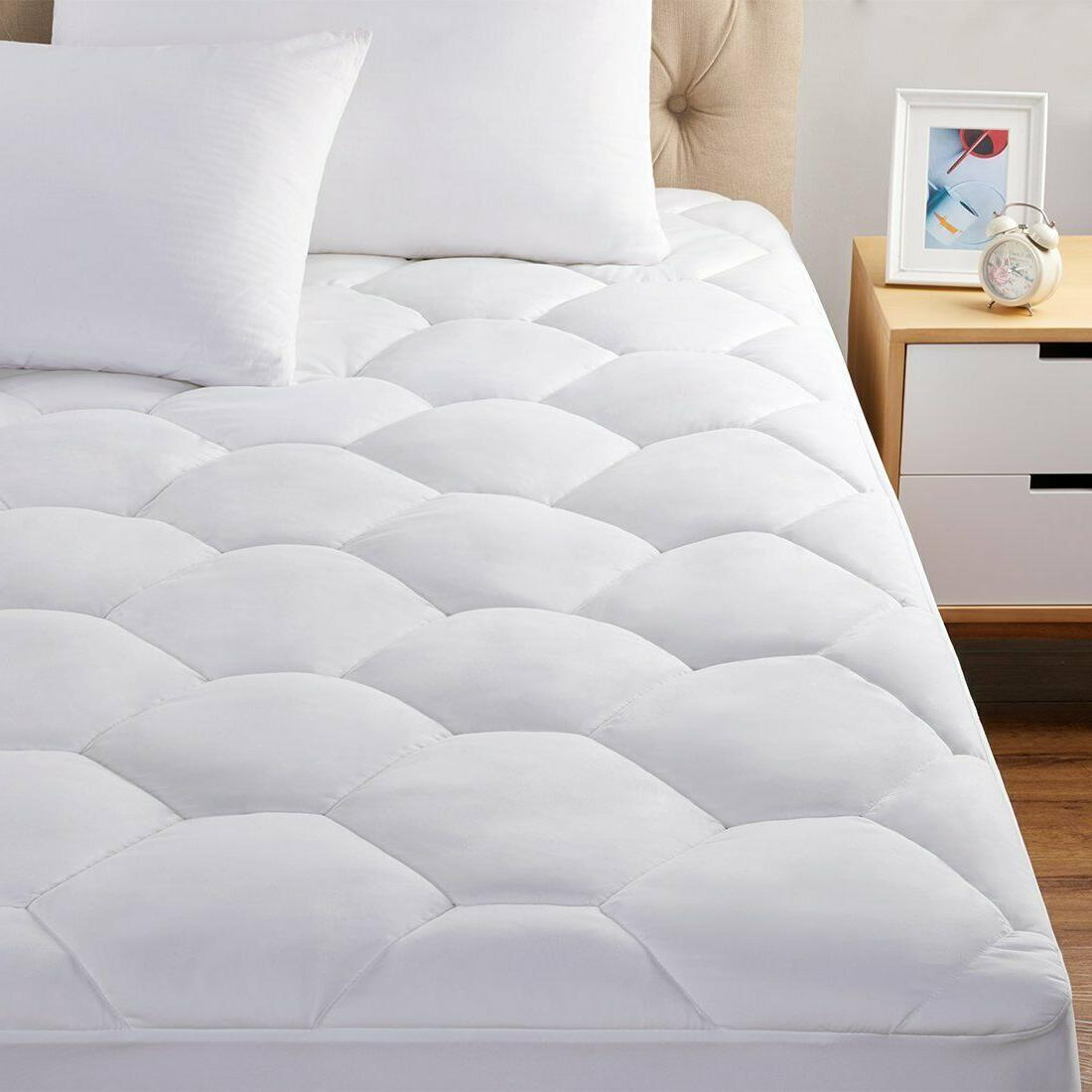 Quilted Fitted Queen Mattress Cover Full Twin