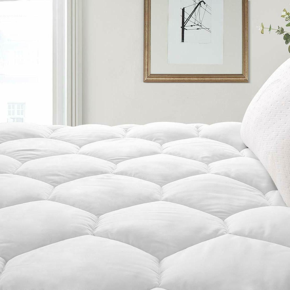 Quilted Fitted Queen Mattress Pad Cover