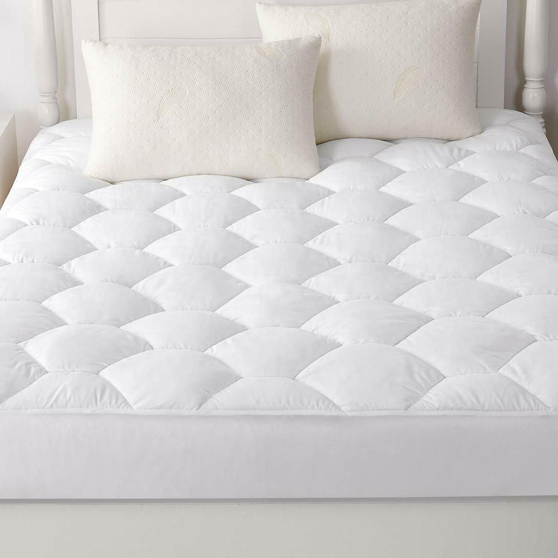 Quilted Queen Mattress Cover Full Twin