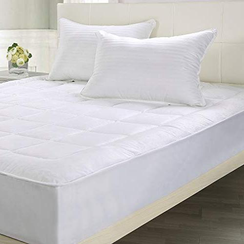 Utopia Bedding Quilted Fleece Pad Mattress Cover Stretches To 16 Inches - Soft and Overfilled Mattress Topper