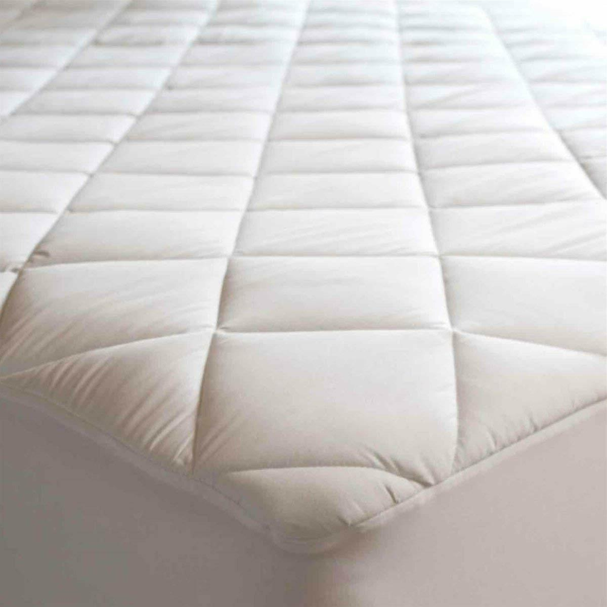 Quilted Fitted Mattress Cover Queen Size Bed Protector Top P