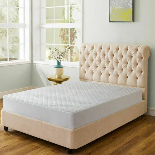 Quilted Mattress Fitted Bed Topper Bug