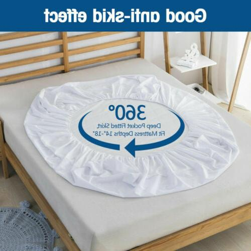 Quilted Mattress Pad Cover Fitted Cooling Sheet Topper Dust Protector