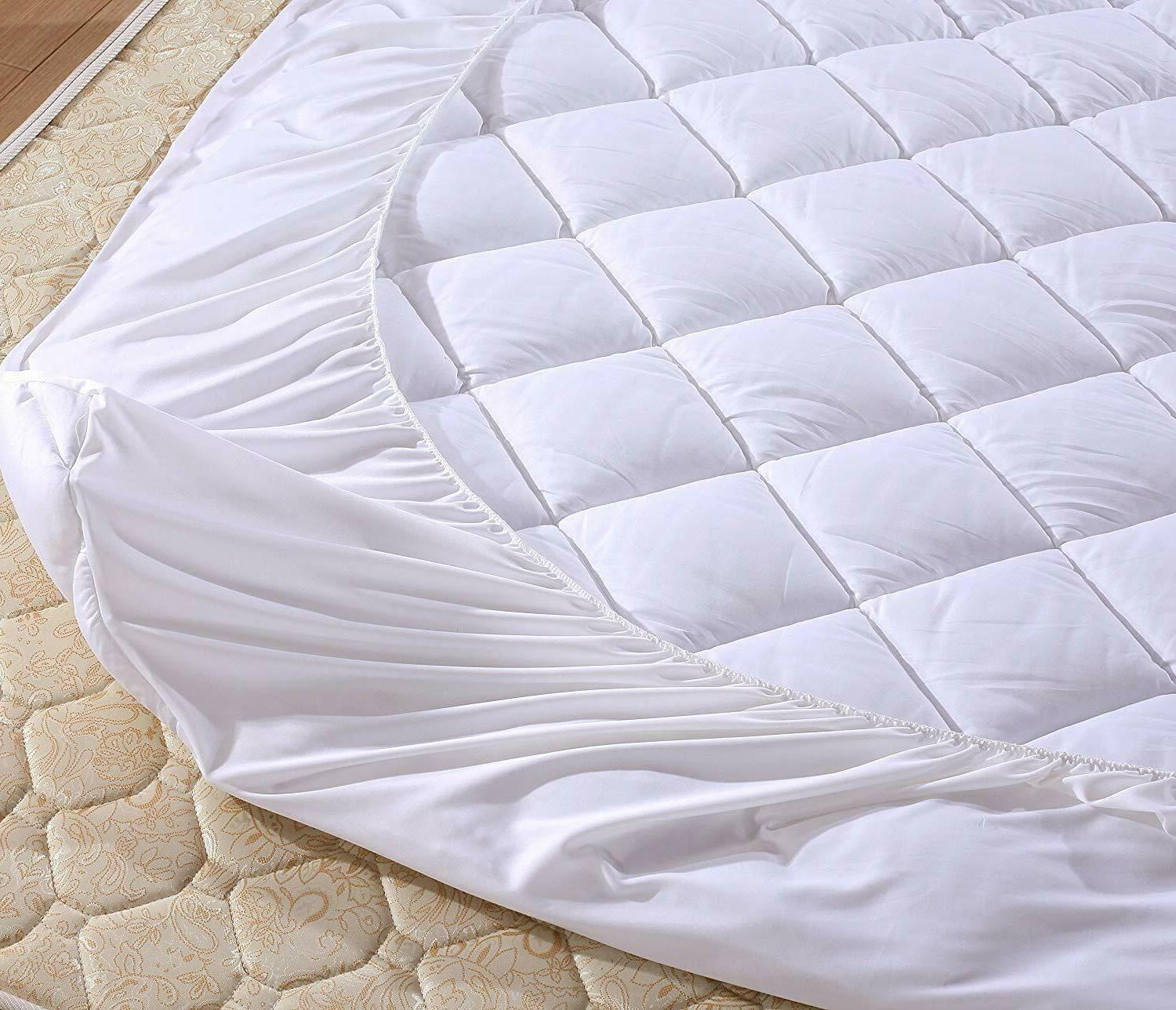 Quilted Mattress Pad Hypoallergenic 18'' Deep