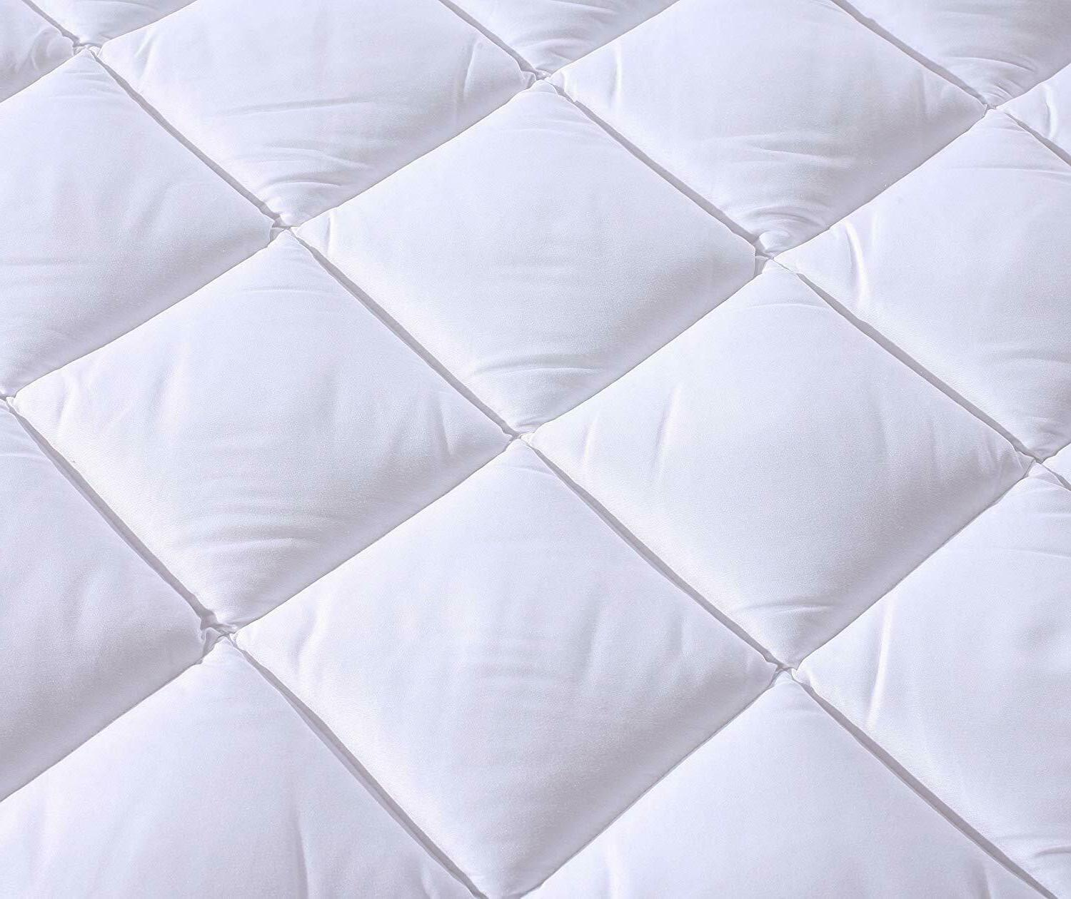Quilted Plush Hypoallergenic Mattress Topper Deep