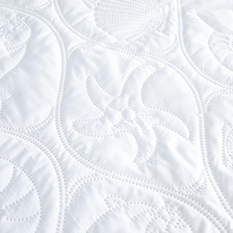 Quilted Waterproof Solid Color <font><b>Pad</b></font> <font><b>Fitted</b></font> Cover with Elastic