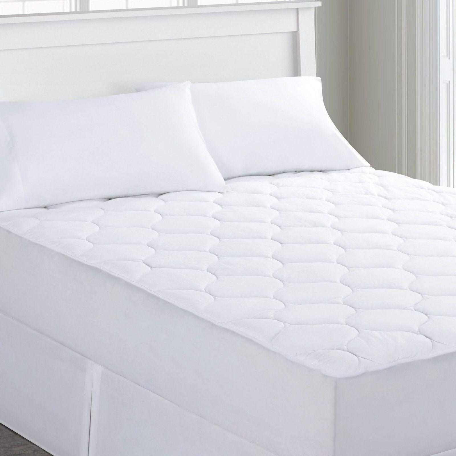 Quilted Waterproof Mattress Pad Against