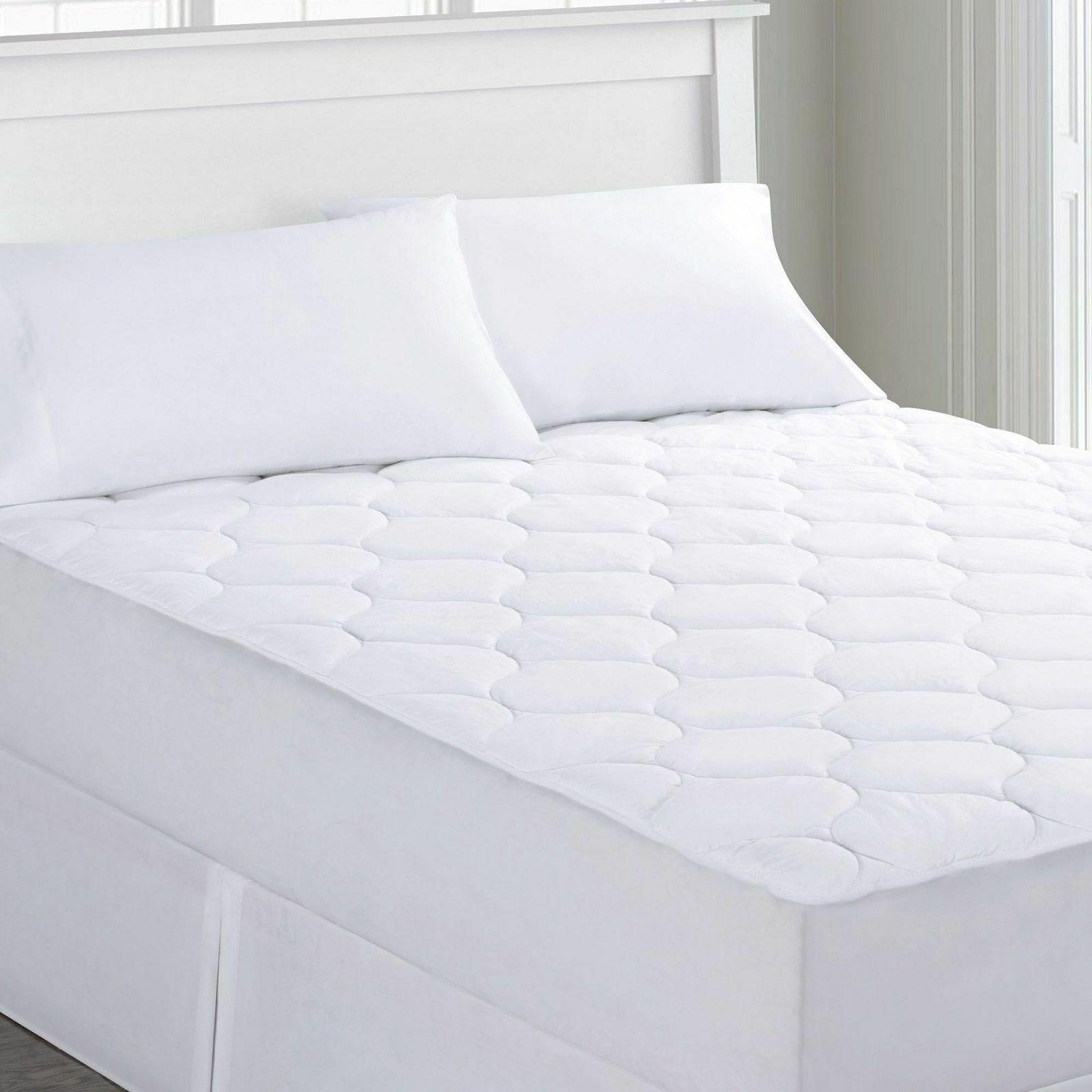 quilted waterproof mattress pad fits 16 inch