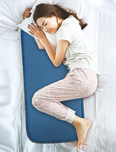 No Water or Electricity Required Cool Flash Sleeping Gel Body Pad by Cool Care Technologies Pressure-Activated Cool Gel Technology Recharges Automatically Instant Cooling While You Sleep