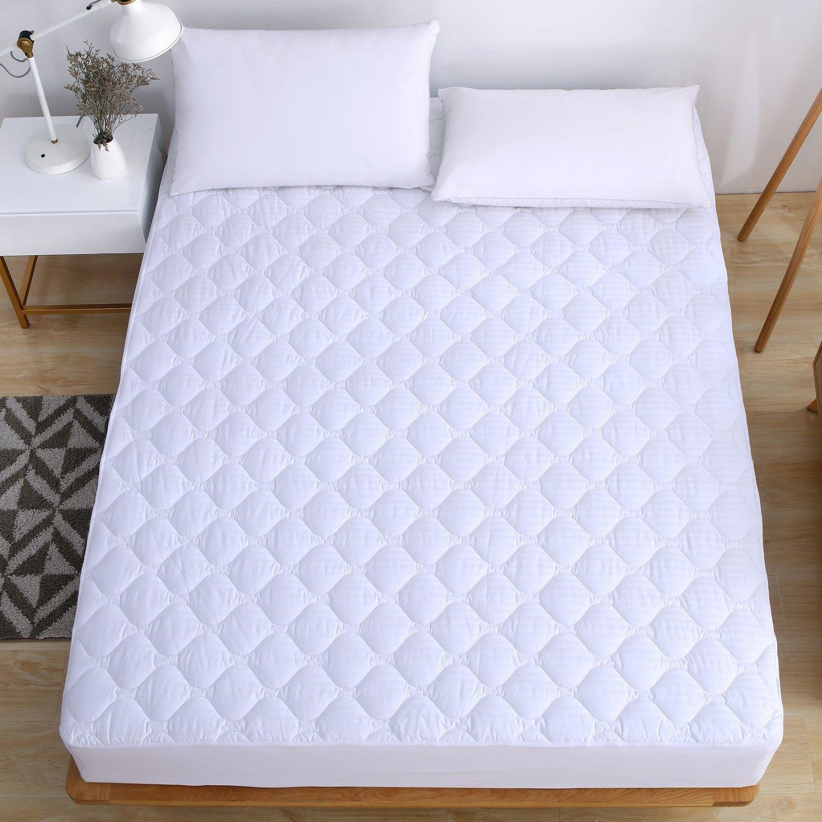 stripe mattress pad 250tc 100 percent cotton