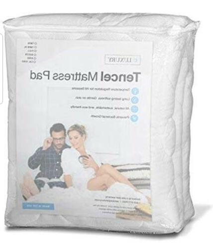 eLuxurySupply Mattress Pad with Fitted Extra