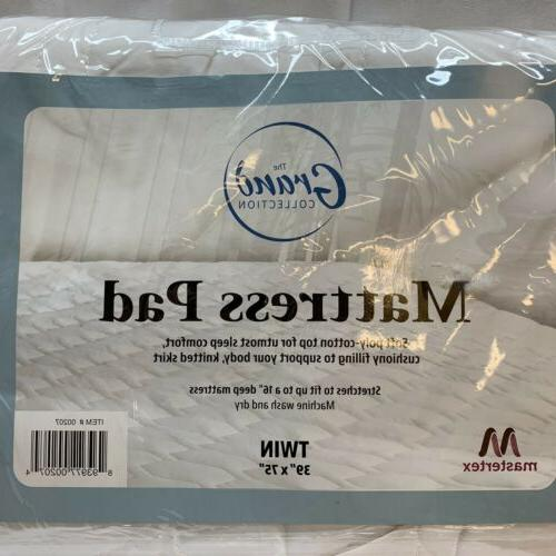 the grand collection twin size mattress pad