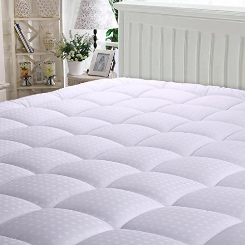 MEROUS Mattress Pad - Pillow Top Hypoallergenic Topper,Fitted Pocket Mattress Cover
