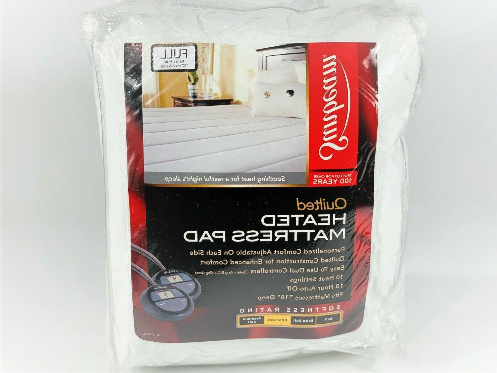 vertical quilted heated mattress pad