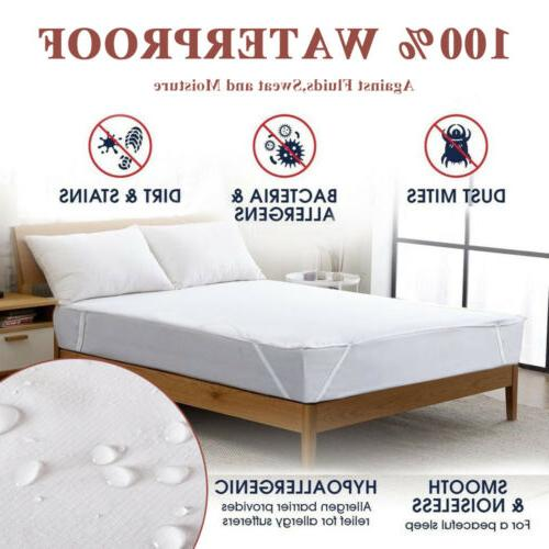 Premium Mattress Fitted Cover Topper Bed Protector Waterproo
