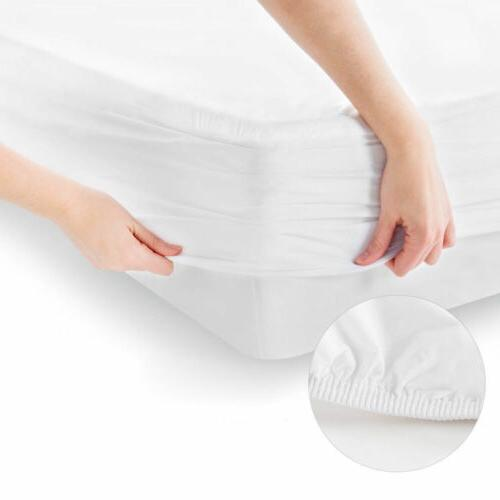 Waterproof Quilted Mattress Pad Bug Dust Mite Hypoallergenic Protector