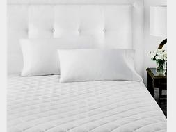 Sleep Restoration Luxury Mattress Pad Microfiber Full White