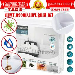 Mattress Cover Protector Waterproof Pad All Sizes Encasement