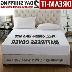 Mattress Cover Protector Waterproof Pad Full/Queen/King Size
