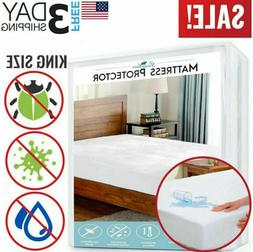 Mattress Cover Protector Waterproof Pad Queen Size Bed Cover