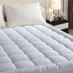 Mattress Pad 300TC Cotton Cover Cooling Quilted Pillowtop To