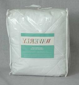 Waverly Mattress Pad, All Sizes, White, 250-Thread Count