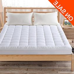 Fairyland Quilted Mattress Pad Cover with 300TC 100% Cotton