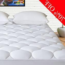 HARNY Mattress Pad Cover Cal King Size 400TC Cotton Pillow T
