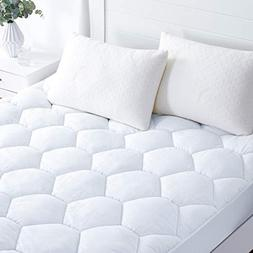Mattress Pad Cover Queen Size- Hypoallergenic Quilted Fitted