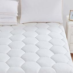 Favorland Mattress Pad Cover King- Hypoallergenic Quilted Fi