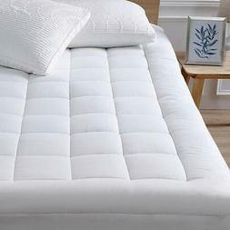 Mattress Pad Cover Memory Foam Pillow Topper Cooling Overfil