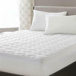 "Mattress Pad Cover Quilted Fitted 18"" Deep Pocket Cooling Pr"