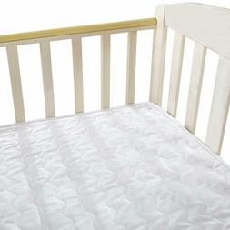 NTBAY Mattress Pad Muslin Cotton Solid Color Soft and Breath
