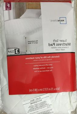 Full Size Mattress Pad Protector Cover Bed Top Soft Bedding