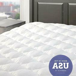 eLuxurySupply, Mattress Pad W/Fitted Skirt, Queen