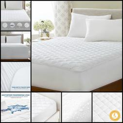 Mattress Pad Waterproof Quilted Hypoallergenic Fill Deep Poc