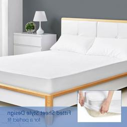 Mattress Protector Cover Waterproof Pad Twin/Full/Queen/King