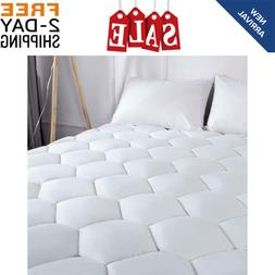 Mattress Topper Bed Pad Cover Pillow Top Soft Breathable Siz