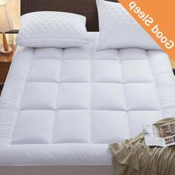 Mattress Topper Bed Pad Cover Soft Breathable Hypoallergenic