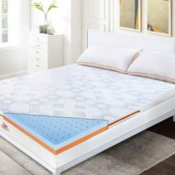 Mattress Topper Memory Foam  Lavender CertiPUR-US Certified