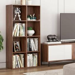 Bookshelf Bookcase Display Shelf Storage Wood Furniture Home